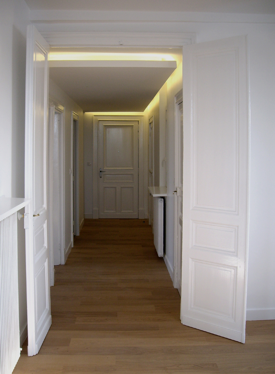 Couloir appartement haussmannien